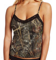 Country Girl Cami Top with Black Lace and Camouflage Pattern Reed Marsh