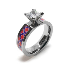 Rebel Flag Wedding Ring Redneck Southern Pride