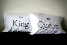 King and Queen Pillow Case Set