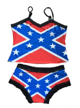Rebel Flag Lingerie Boy Shorts and Camisole Redneck Romeo Southern Pride Dixie Confederate