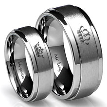 His Queen and Her King Couples Ring Set