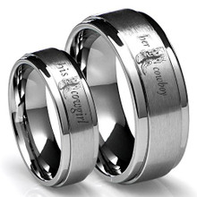 His Cowgirl and Her Cowboy Couples Ring Set