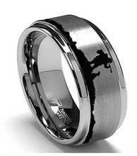 Men's Duck Hunting Wedding Ring