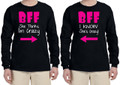 Long Sleeve T-Shirts - She Thinks I'm Crazy, She Know's I'm Crazy