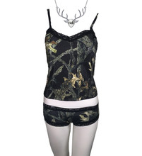 Midnight Black Sexy Camo Lingerie Outfit By Huntress - Girls Hunt Too Free Deer Necklace by Southern Sisters Designs