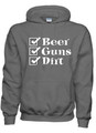 Beer Guns Dirt Hoodies