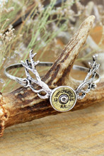 Ladies Country Western Bracelet Winchester 12 Gauge Deer Antler Bracelet Bangle