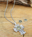 Two Tone Winchester Country Cross and Earrings Set