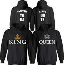 Customized King and Queen Hoodies Set