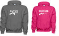 Charcoal Gray and Pink Hoodie Set