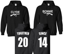 Bonnie Clyde Personalized Hoodies For Couples