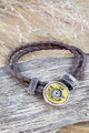 Winchester Disk 12 gauge leather Bracelet For Her