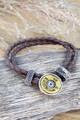 Winchester Disk 12 gauge leather Bracelet For Her