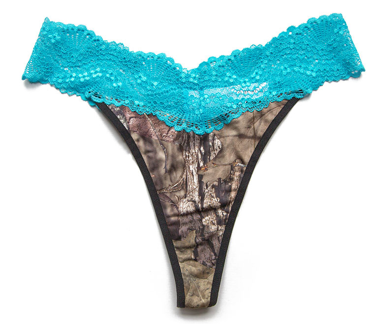 4a318043444 Camo and Lace Thongs