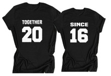 Together Since Couples Shirts - Add Custom Date