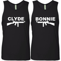 Bonnie and Clyde Couples Tank Tops