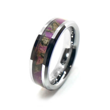 Purple Camouflage Rings For Friendship, wedding, couples, promise and more