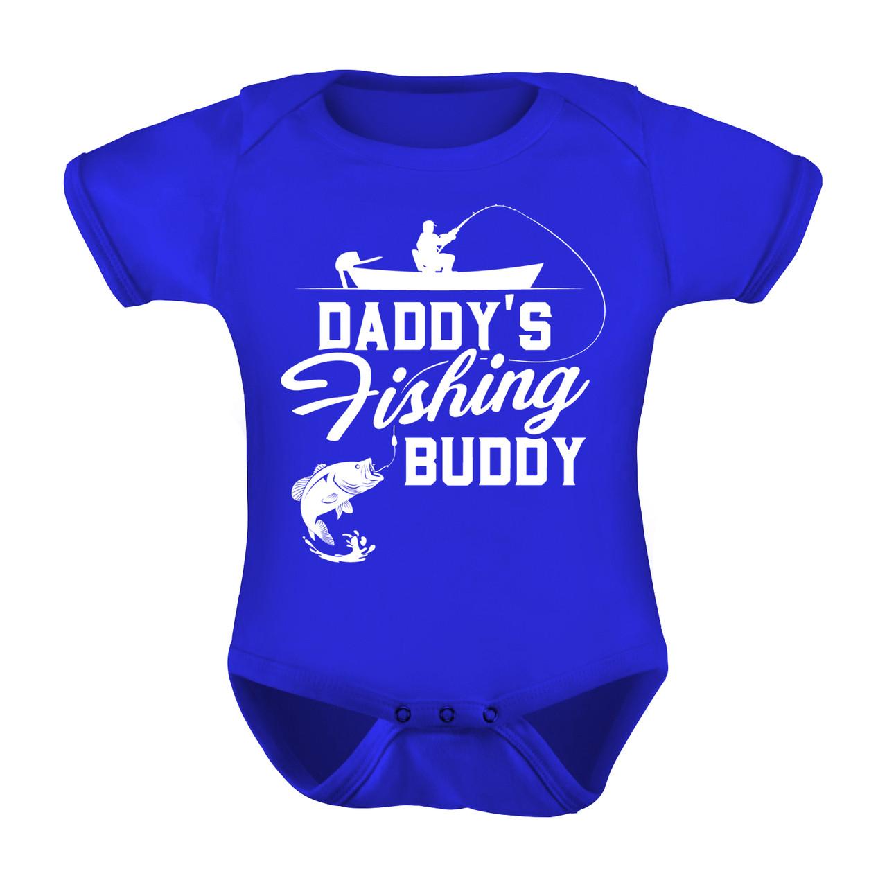 Fishing Baby Onesie Newborn Fishing Clothing Daddy/'s Fishing Buddy Baby Onesie Fishing Clothing Baby Shower Gift Funny Onesie