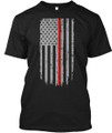 Firefighter Supporter Thin Red Line T Shirt