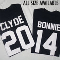 Bonnie and Clyde Together Since Custom Date