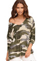 Women's Camo Fashion Loose Fit Top