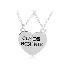 Bonnie and Clyde Half Heart Makes Me Whole Necklaces for Him and Her