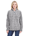 J America Ladies' Epic Sherpa Quarter-Zip Jacket