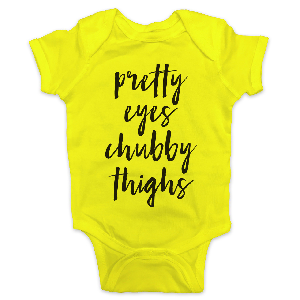 Thick Thighs and Pretty Eyes Baby Onesie Personalize with a Name