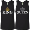 Personalized King and Queen Tank Tops and Apparel