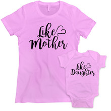 Matching Mommy and Daughter Cute shirts and Baby Clothing Sets