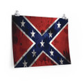 Dixie Flag Southern Heritage Wall poster 24 x 18 inches long