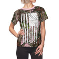 Women's Camouflage American Flag Shirt