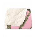 Premium Pink Camo Fleece Sherpa Blanket