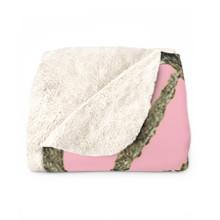 Pink Camo Fleece Sherpa Blanket