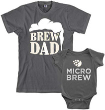 Brew dad and micro brew baby onesie and shirt set