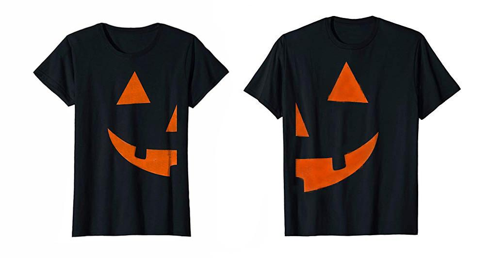 418ba862 Loading zoom. Half Pumpkin Couples Shirt Set for Halloween Costume ...