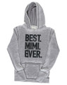 Best Mimi Ever Ladies Fashion High Quality Hoodie (Cement)