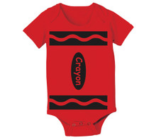 Red Crayon Baby Onesie