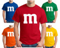 M M Chocolate Candy Adult Costume T Shirt