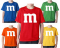 M & M Chocolate Candy Toddler  and Youth Sizes