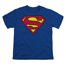 Toddler and Youth Super Hero Superman shirt for Halloween and parties