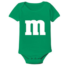 Baby Candy Onesie in Green For St Patty's Day or Irish Pride Clothing