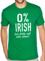 0% Irish T Shirts - Beer Drinking Funny