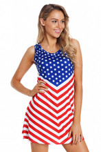 Memorial Day or 4th of July Patriotic Dress