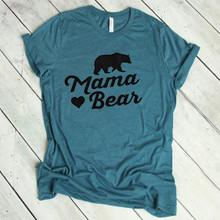 Mama Bear T Shirts - Teal
