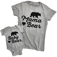 Mama Bear and Baby Matching Outfit - Choose Your Color