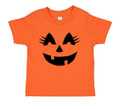 Girls Pumpkin Halloween Costume T Shirt