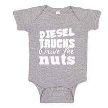 Diesel Trucks Drive Me Nuts Baby Romper