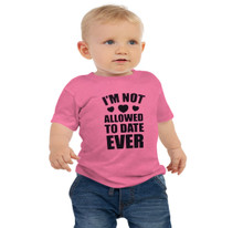 Pink Daddy's Little Girl Not Allowed to Date Ever t shirt