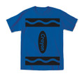 Blue halloween costume t shirt for kids